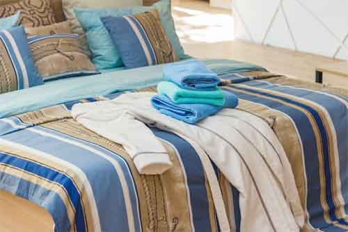 Decorating with Bed Sheets