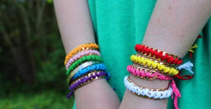 Make Free Beaded Friendship Bracelets from Recycled Clothes and Jewelry